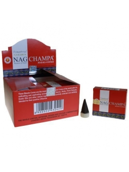 INCIENSO NAG CHAMPA ORIGINAL CONOS GOLDEN ROJO