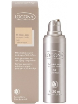 MAQUILLAJE FLUIDO 02 LIGHT BEIGE NATURAL FINISH LOGONA