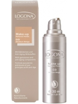 MAQUILLAJE FLUIDO 03 MEDIUM BEIGE NATURAL FINISH LOGONA