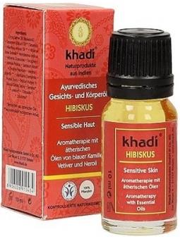 ACEITE FACIAL Y CORPORAL AYURVEDICO HIBISCO PIEL SENSIBLE 10 ML KHADI