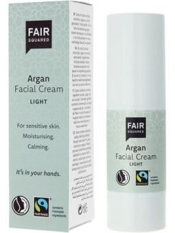 CREMA FACIAL LIGERA-LIGHT ARGAN BIO PIEL MUY SENSIBLE DE FAIR SQUARED