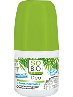 DESODORANTE BIO ROLL-ON POLVO DE BAMBU PARA PIEL NORMAL DE SO'BIO ETIC
