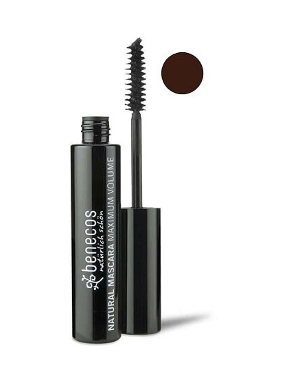 MASCARA DE PESTAÑAS NATURAL MAXIMO VOLUMEN MARRON SUAVE DE BENECOS
