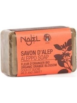 JABON EN PASTILLA DE ALEPO CON FLOR DE AZAHAR BIO DE NAJEL