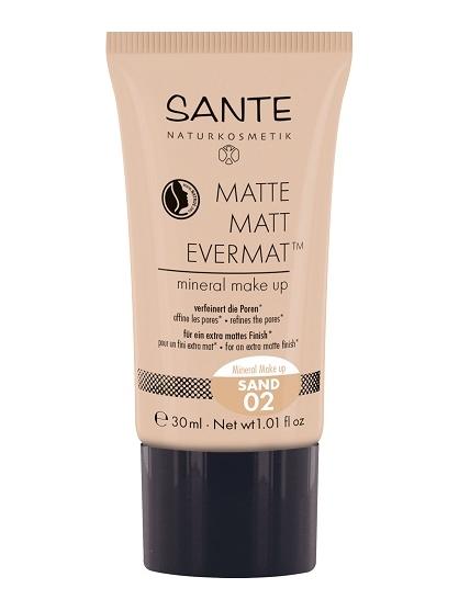 MAQUILLAJE MINERAL FLUIDO EFECTO MATE EVERMAT 02 SAND DE SANTE
