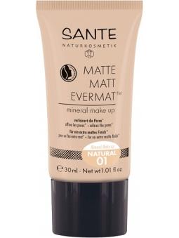 MAQUILLAJE MINERAL FLUIDO EFECTO MATE EVERMAT 01 NATURAL DE SANTE