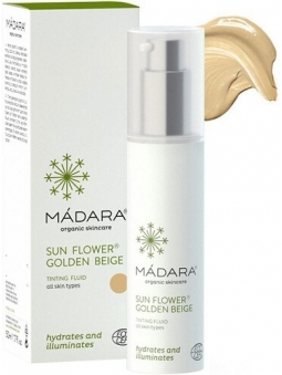 FLUIDO FACIAL CON COLOR SUN FLOWER GOLDEN BEIGE DE MADARA