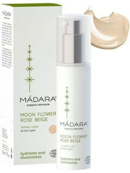 FLUIDO FACIAL CON COLOR MOON FLOWER ROSE BEIGE DE MADARA
