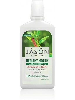 COLUTORIO BIO ANTIPLACA Y ANTISARRO CANELA, CLAVO Y ARBOL DE TE HEALTHY MOUTH DE JASON