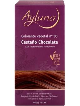 COLORANTE CAPILAR VEGETAL POLVO 100% BIO 85 CASTAÑO CHOCOLATE AYLUNA