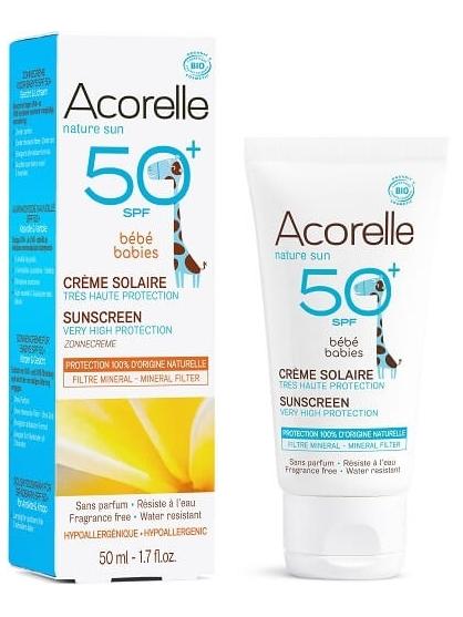 CREMA SOLAR BEBE SPF50+ DE ACORELLE