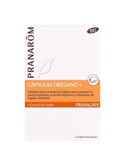 CAPSULAS CON ACEITES ESENCIALES OREGANO+ Y LIMON PRANACAPS DE PRANAROM