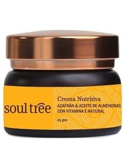 CREMA FACIAL NUTRITIVA AYURVEDA AZAFRAN Y ALMENDRAS (25 G) DE SOULTREE