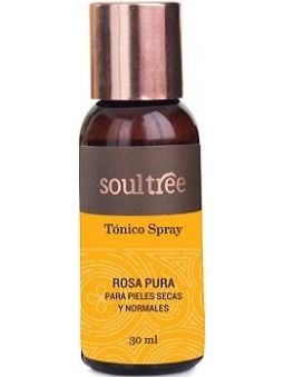 TONICO FACIAL DE ROSAS PARA PIEL NORMAL Y SECA (30 ML) DE SOULTREE