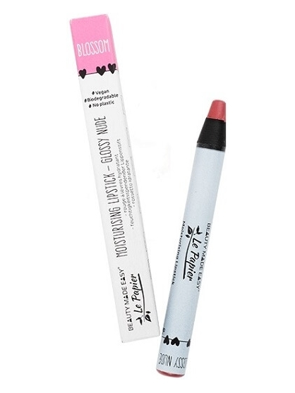 LAPIZ DE LABIOS NUDE BRILLO BLOSSOM LE PAPIER DE BEAUTY MADE EASY