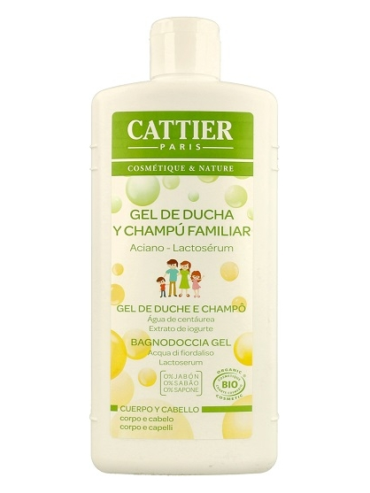 GEL DE BAÑO Y CHAMPU BIO ESPUMOSO FAMILIAR (500ML) DE CATTIER