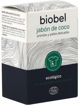 JABON EN PASTILLA COCO ECOLOGICO Y ACEITE ESENCIAL DE LAVANDA BIOBEL