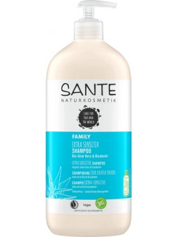 CHAMPU EXTRA SENSITIVE ALOE VERA BIO Y BISABOLOL FAMILY (950 ML) SANTE