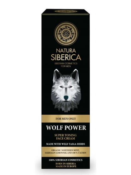 "CREMA FACIAL SUPER TONIFICANTE ""EL PODER DEL LOBO"" FOR MEN ONLY DE NATURA SIBERICA HOMBRE"