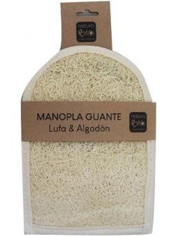 MANOPLA-GUANTE DE LUFA Y ALGODON DE NATURABIO COSMETICS