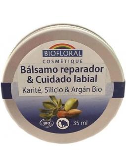 BALSAMO REPARADOR Y CUIDADO DE LABIOS KARITE SILICIO Y ARGAN BIOFLORAL