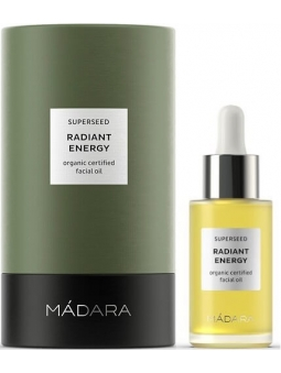 ACEITE FACIAL ECOLOGICO ENERGIZANTE RADIANT ENERGY SUPERSEED DE MADARA
