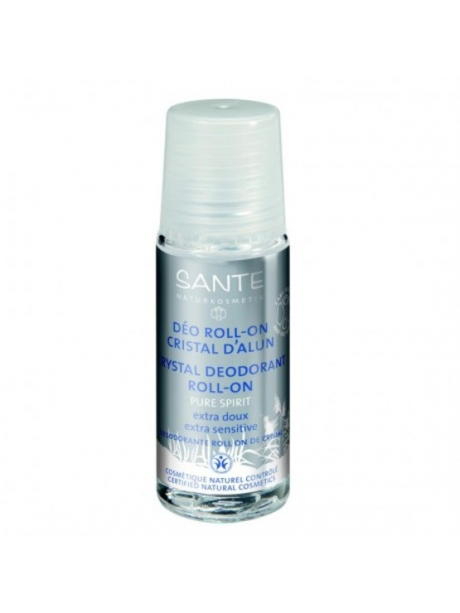 DESODORANTE NATURAL ROLL-ON MINERAL ALUMBRE PURE SPIRIT SANTE