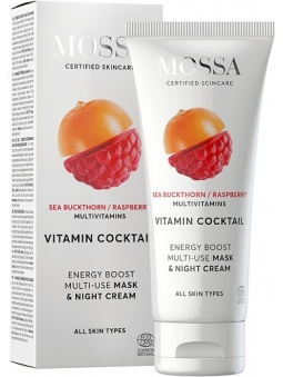 MASCARILLA Y CREMA DE NOCHE FACIAL ENERGY BOOST VITAMIN COCKTAIL MOSSA