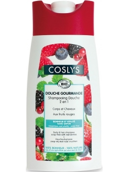 CHAMPU Y GEL 2 EN 1 CON FRUTOS ROJOS DOUCHE GOURMANDE (250 ML) COSLYS