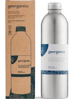 ENJUAGUE BUCAL SIN FLUOR ACEITE COCO-MENTA INGLESA (250 ML) GEORGANICS