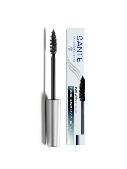 MASCARA PESTAÑAS BIO ENDLESS LASHES BLACK 01 SANTE