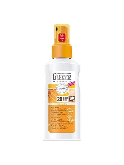 SPRAY PROTECTOR SOLAR NATURAL SUN SENSITIVE SPF 20 LAVERA